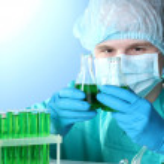Scientist working in chemistry laboratory — Stock Photo #10043986