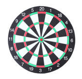 Dart board isolated on white — Stock Photo
