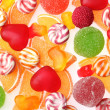 Colorful jelly candies background — Stock Photo