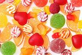Renkli jöle şekerler arka plan — Stok fotoğraf