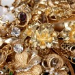 Beautiful golden jewelry close up — Stock Photo