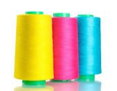 Bobbins of thread isolated on white — Stock Photo