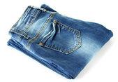 Blue jeans aislados en blanco — Foto de Stock