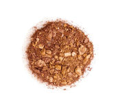 Crushed eyeshadows isolated on white — Stock Photo