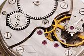 Clock mechanism close-up — Stock Photo