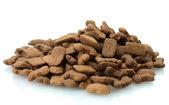 Dry dog food isolated on white — Stock Photo
