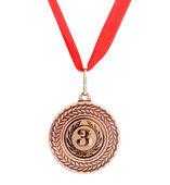 Beyaz izole bronz madalya — Stok fotoğraf
