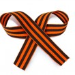 St. George ribbon isolated on white — Stock Photo