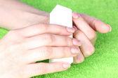 Manicure process — Stockfoto
