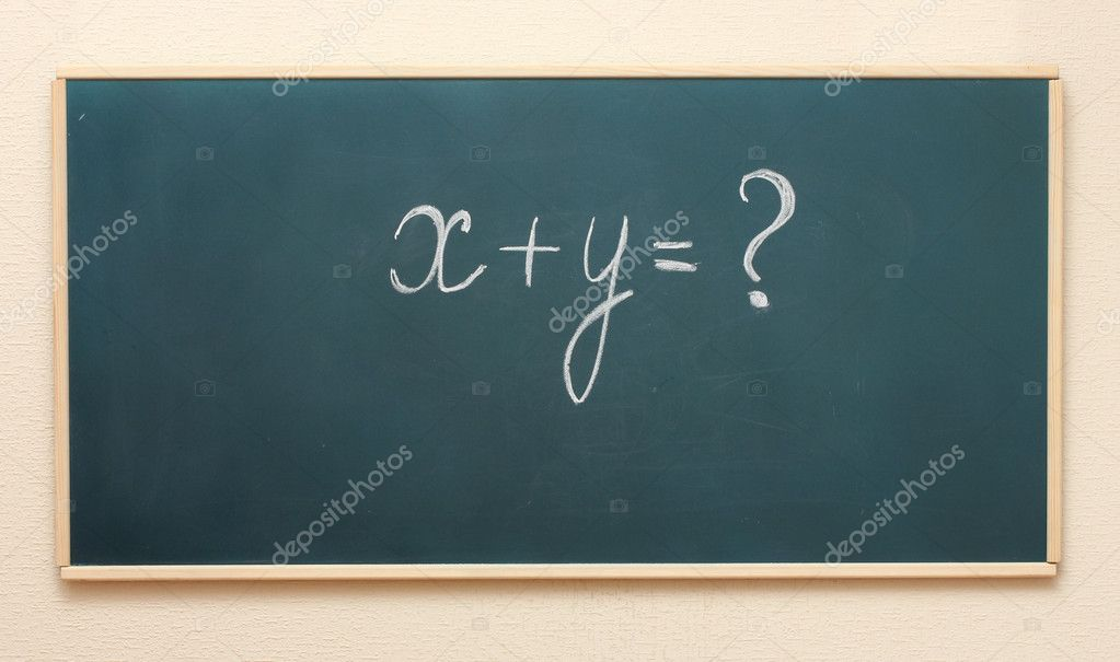 The example on the blackboard — Stock Photo #10264203