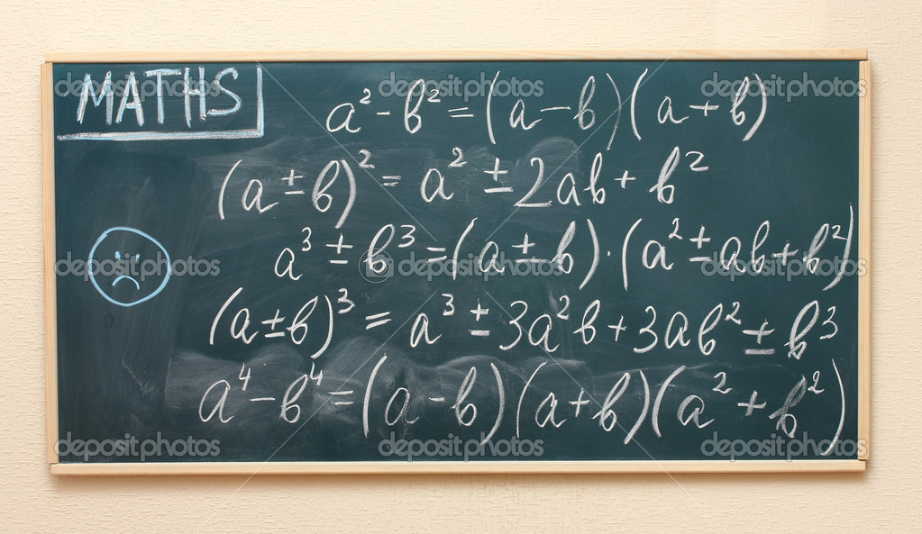Math formulas written on the desk — Stock Photo #10264205