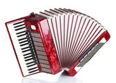 Retro accordion isolated on white — Stock Photo
