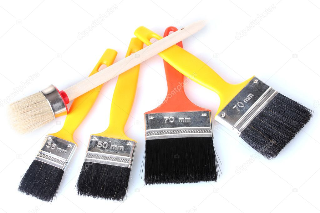 Paint brushes isolated on white background — Stock Photo #10418777