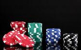 Casinofiches geïsoleerd op zwart — Stockfoto