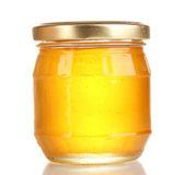 Tasty honey isolated on white — Stock Photo