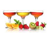 メガネと白で隔離される果実フルーツ ゼリー — ストック写真