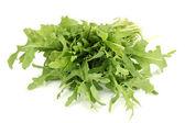 Frischer rucola salat oder rakete salat-blätter, isoliert auf weiss — Stockfoto