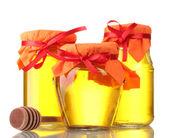 Honey isolated on white — Stock Photo