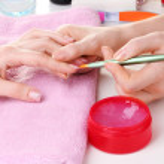Manicure process in beautiful salon — Stock Photo