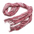 Stock Photo: Bright pink female scarf isolated on white