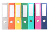 Složky office izolované na bílém — Stock fotografie