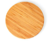 Cutting board isolated on white — Stock Photo