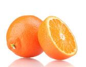 Tasty mandarine isolated on white — Stock Photo