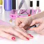 Manicure process in beautiful salon — Stock Photo #10598024
