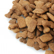 Dry dog food isolated on white — Stock Photo
