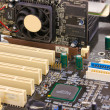 Modern electronic board. Motherboard close-up — Stock Photo