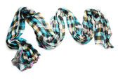 Beautiful scarf isolated on white — Stock Photo