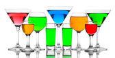 Alkoholische cocktails isoliert auf weiss — Stockfoto