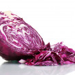 Sliced red cabbage isolated on white — Stock Photo