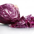Sliced red cabbage isolated on white — Stock Photo #8114013