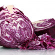 Sliced cabbage isolated on white — Stock Photo