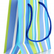 Striped gift bag isolated on white — Stock Photo #8114711