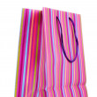 Striped gift bag isolated on white — Stock Photo #8114742