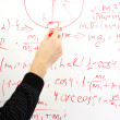 Writing on the whiteboard formulas, closeup — Stock Photo