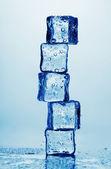 Melting ice cubes isolated on white — Stock Photo