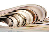 Open magazines isolated on white — Stock Photo