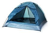 Tourist tent isolated on white — Stock Photo
