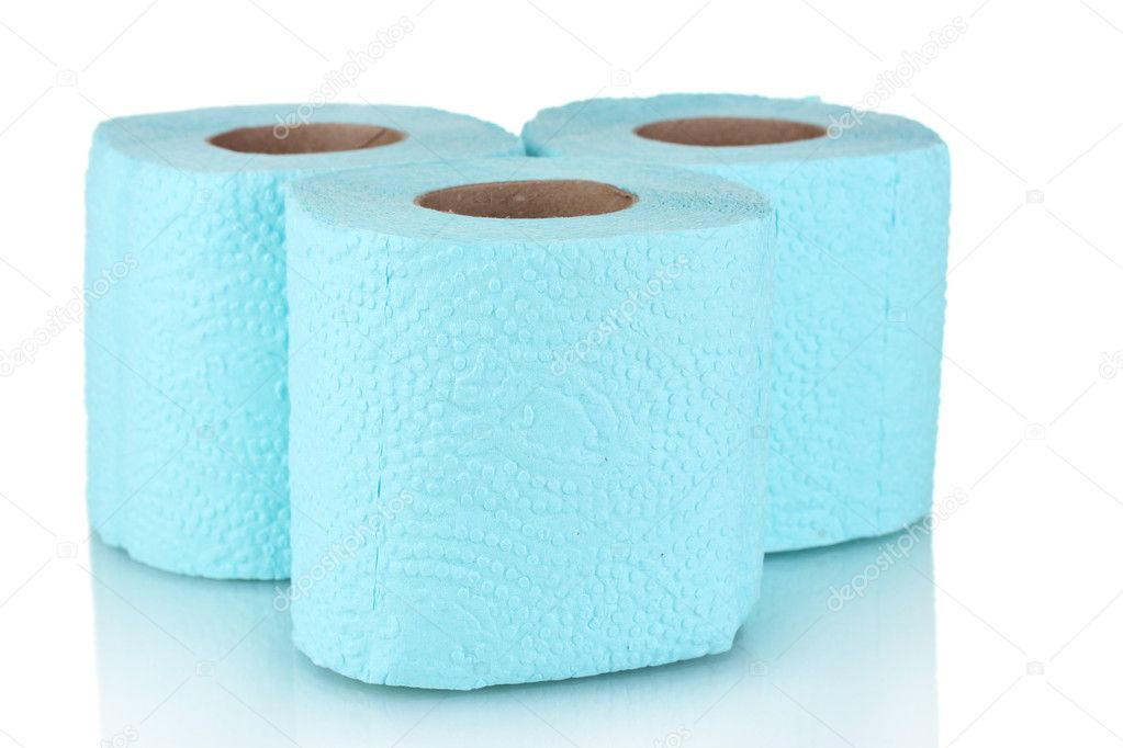 Rolls of toilet paper isolated on white — Stock Photo #8113747