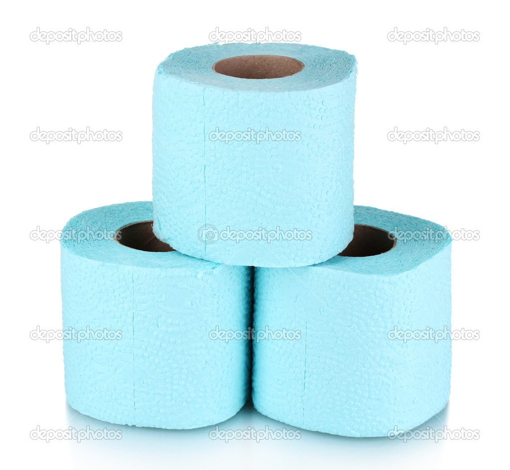 Rolls of toilet paper isolated on white — Stock Photo #8113772