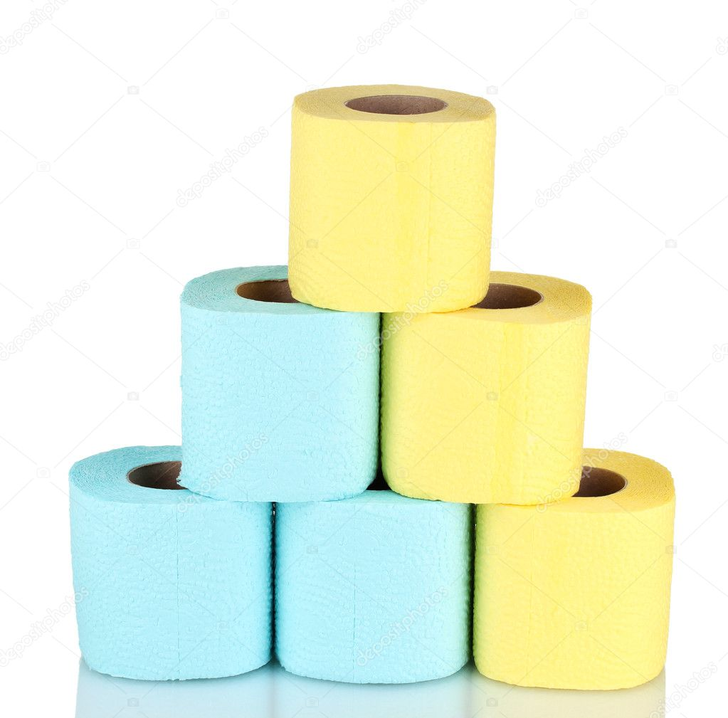 Rolls of toilet paper isolated on white — Stock Photo #8113783