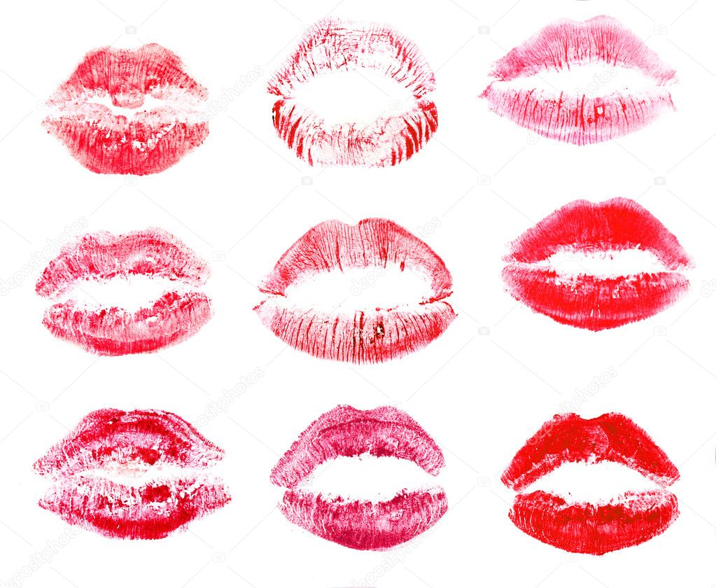 Collection of lips isolated on white — Stock Photo #8114406