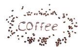 Inscription coffee isolated on white — Foto de Stock