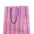 Striped gift bag isolated on white — Stock Photo #8221947
