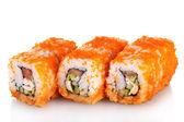 白で隔離される美味しいお寿司 — ストック写真