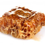 Tasty honeycombs isolated on white — Stock Photo