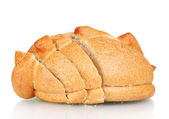 White bread isolated on white — Stock Photo